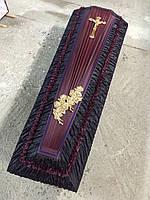 Гроб - драпировка шёлк (чёрный) сайт:  Orfey1.com