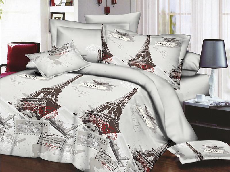 Полуторное постельное белье Restline 3D Париж