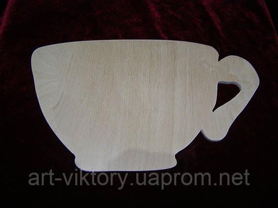 Заготовка из фанеры чашка, фото 2