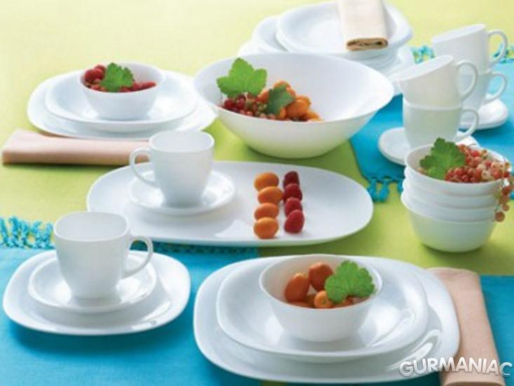 Столовый набор посуды Carine White 38 приборов