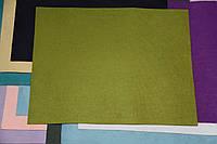 Фетр жесткий оливковый (40х50см, 1мм)
