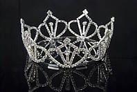Корона королевы сияющие камни, высота 5 см, диаметр 11,5 см