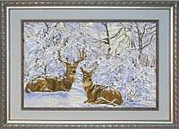 Набор для вышивания нитками Зимнее кружево 1 10712