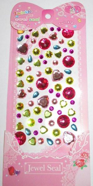 Кристаллы клеевые Микс, разноцветные