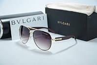 Солнцезащитные очки Bvlgari-коричневые, фото 1