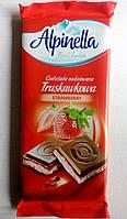 Alpinella Молочный Шоколад Клубничный вкус 90гр Польша