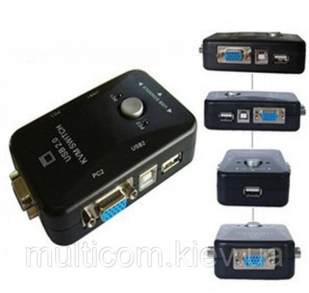 03-00-111. KVM-переключатель 2 гнезда VGA + гнезда USB, MT-201UK