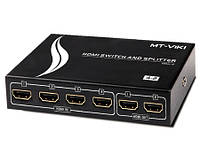 2-0219. HDMI Switch and Splitter 4x2: (4гн. HDMI- 2гн. HDMI), 1.3V