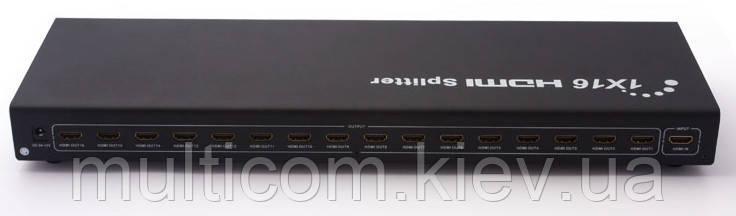 03-01-176. HDMI Splitter (делитель) 16 портов (1 гнездо HDMI (IN) → 16 гнезд HDMI (OUT)), ver.2.0, с питанием