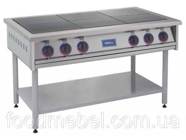 Плита промышленная электрическая 6-конфорочная ПЕ-6