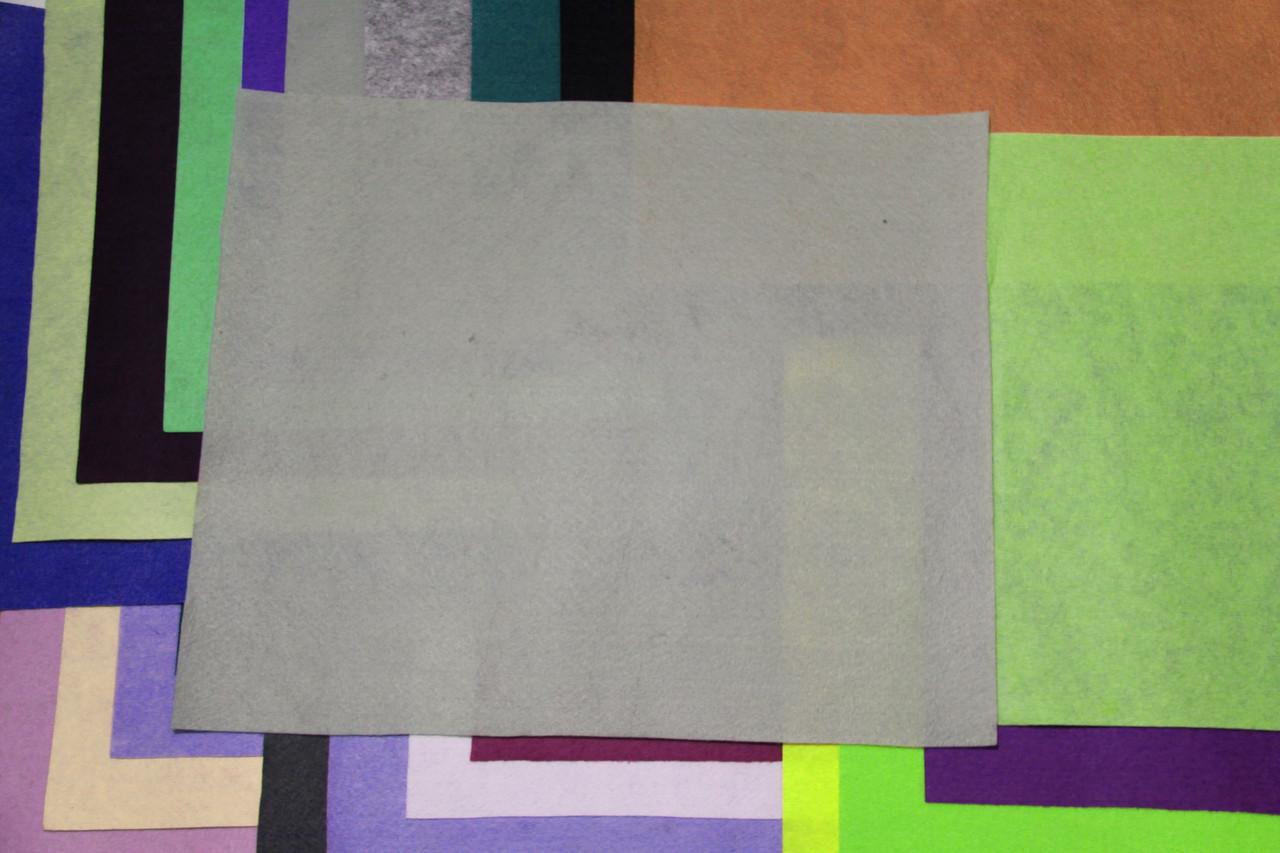 Фетр жесткий светло-серый (40х50см, 1мм)