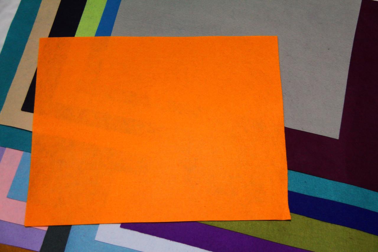 Фетр жесткий оранжевый (40х50см, 1мм)