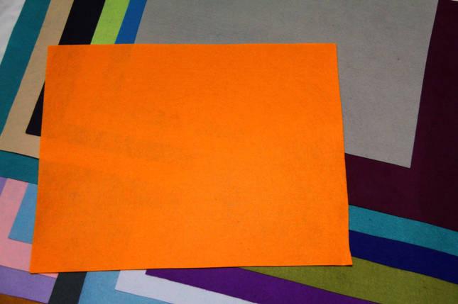 Фетр жесткий оранжевый (40х50см, 1мм), фото 2
