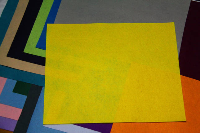 Фетр жесткий лимонный (40х50см, 1мм), фото 2