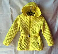 Куртка ветровка детская для девочки 6-10 лет,желтая