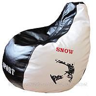 Бескаркасное Кресло мешок груша капля спорт с вышивкой