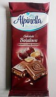 Alpinella Молочный Шоколад арахис изюм 90 гр Польша