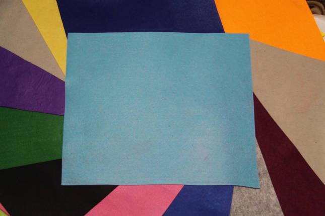 Фетр жесткий голубой (40х50см, 1мм), фото 2