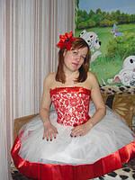 Вечернее, коктельное, нарядное платье Диор красный короткий - прокат Киев, Троещина