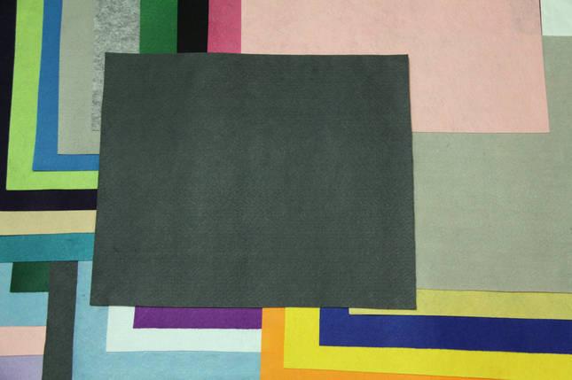 Фетр жесткий графит (40х50см, 1мм), фото 2