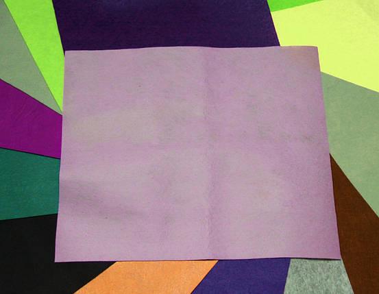 Фетр жесткий светло-сиреневый (40х50см, 1мм), фото 2