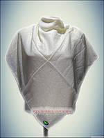 Натуральный платок класик кремовый Almira, турецкий принт