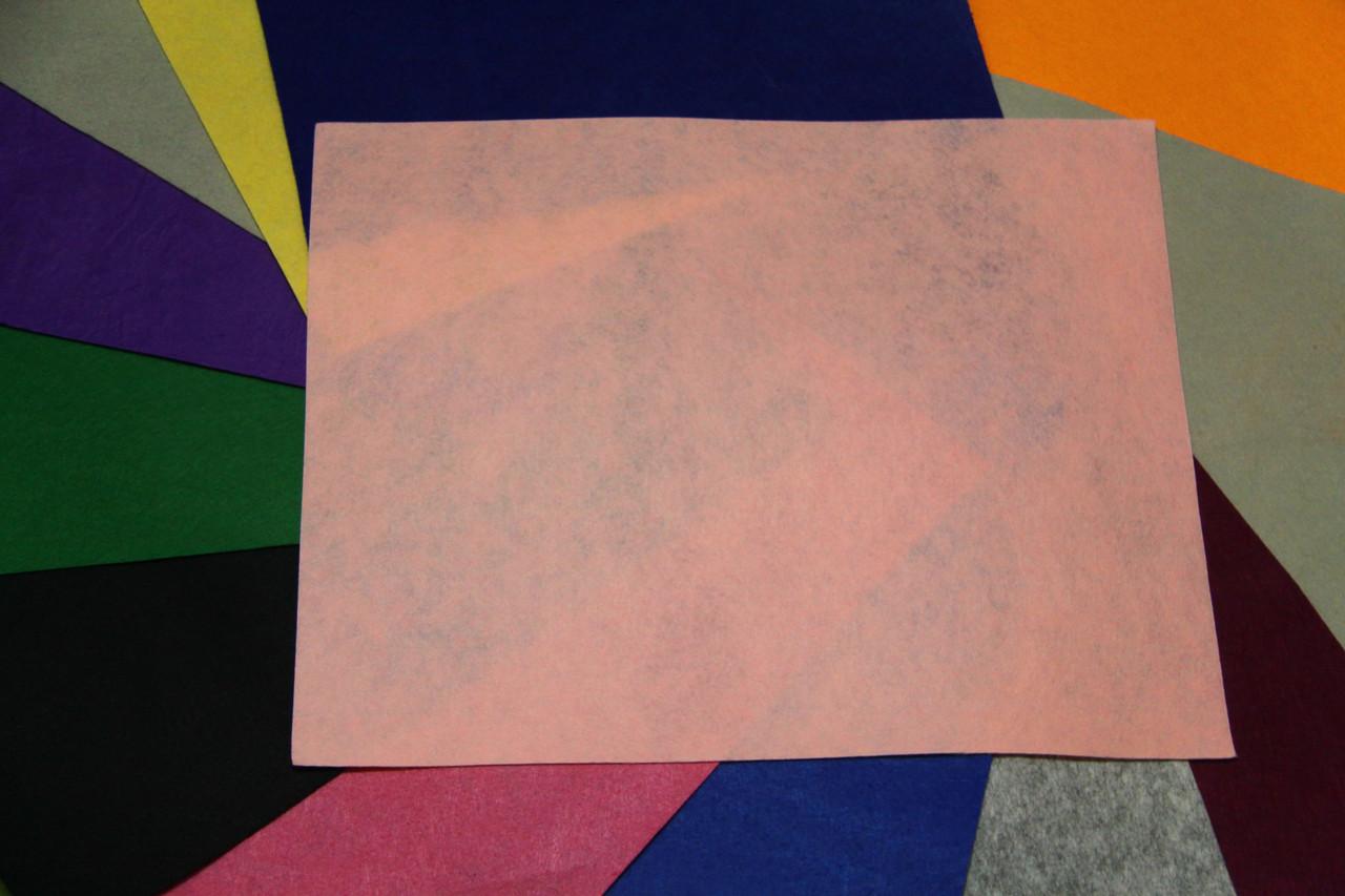 Фетр жесткий светло-розовый (40х50см, 1мм)