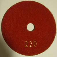 """Алмазный диск """"Черепашки"""" для полировки кварца, мрамора Premium 100x4x15 (Все зерна № 30-3000) 220"""