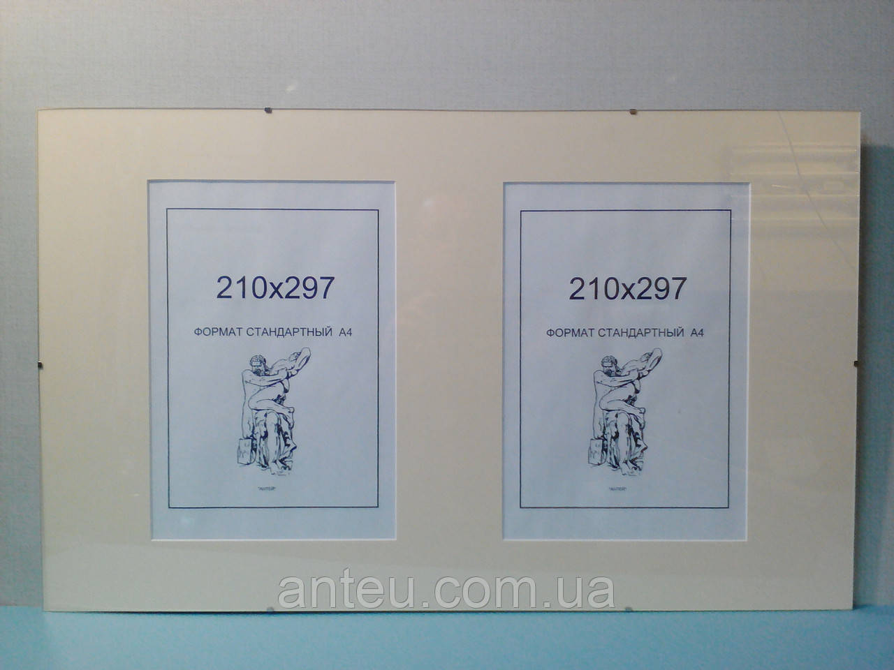 Антирама 670х410 з паспарту на 2 вікна 210х297.