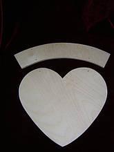 Заготовка сердце с подвесом