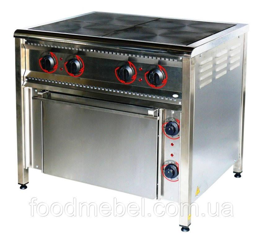 Плита промислова електрична ПЕ-4Ш Н з духовкою