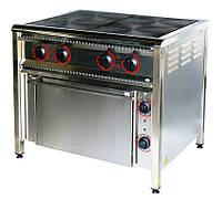 Плита промышленная электрическая ПЕ-4Ш Н с духовкой