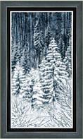 Набор для вышивания нитками Зимний лес М-173