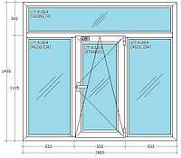 Т-образное окно из профиля WDS с фурнитурой Siegenia(Германия), Axor(Украина)