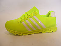Кроссовки женские Adidas текстиль, салатовые  (адидас)р.39
