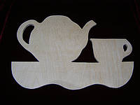 Заготовка чайник с чашкой