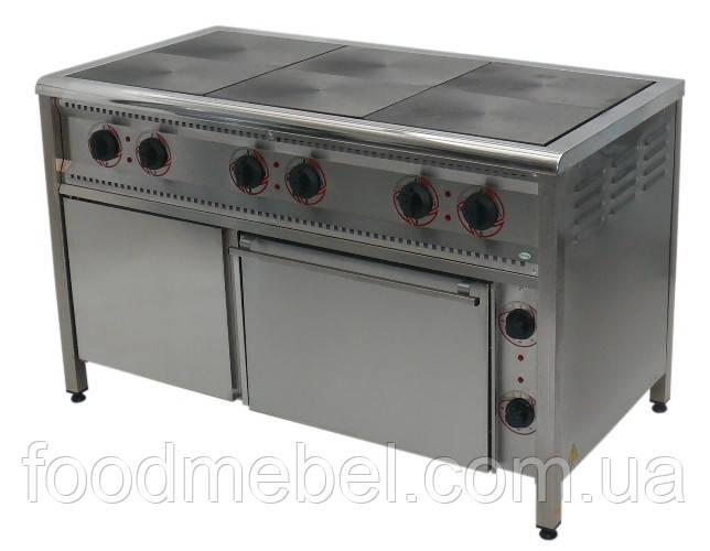 Плита промышленная электрическая ПЕ-6Ш Н с духовкой