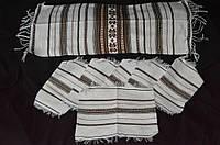 Тканые рушник с 6 салфетками,ручная работа, 195/135