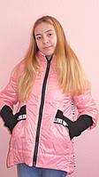 """Детская одежда.  Курточка весна-осень""""Парка-розовый перламутр"""""""