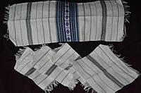 Тканые рушник с 6 салфетками,ручная работа, 195/135 (цена за 1 шт.+60 грн)