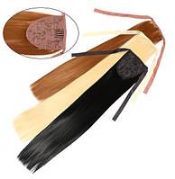 Шиньон из искусственных волос на лентах Гладкий шелк 50 см Lady Victory 100г LDV SHS-BCS /08-21