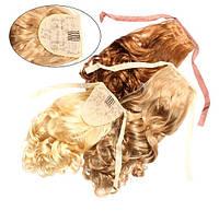 Шиньон из искусственных волос на лентах Изящный завиток 50 см Lady Victory 100г LDV SHS-BCR /0-31