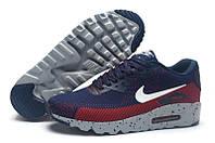 Кроссовки мужские Nike Air Max 90 MD Flyknit Navy Red (найк аир макс 90, оригинал)