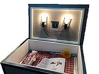 Інкубатор побутовий для яєць Квочка ІБ-70 з механічним переворотом аналоговий терморегулятор, фото 1
