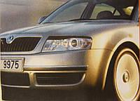 Реснички на фары Skoda Superb 2002-2008 тип 1