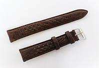 Ремешок кожаный Italian Classic для наручных часов, коричневый с перфорацией, 18 мм