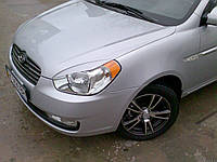 Реснички на фары Hyundai Accent 2006-2011 тип1, фото 1