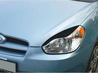 Реснички на фары Hyundai Accent 2006-2011 тип2