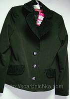 Пиджак для девочки черный с гипюром р.140-152. Цена розн: 469.00 грн.  Цена опт: 392.00 грн.