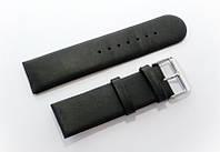 Ремешок кожаный Italian Classic для наручных часов, черный, 24 мм